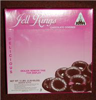 Joyva Raspberry Jelly Rings, 5 lb Box